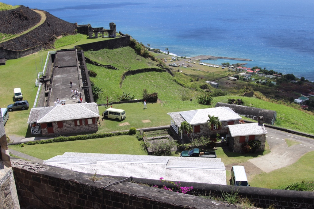 The Fort overlooking Sandy Point Town and the Caribbean Sea.