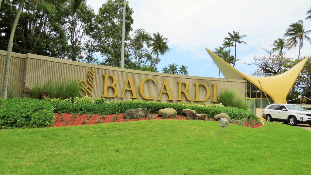 The entrance of the Bacardi property.