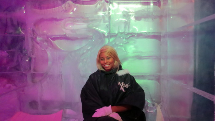 Queen Africah sitting on an ice throne!