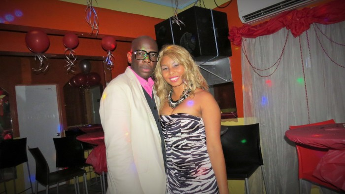 Radio Host Critobal Frances and TV Personality Africah Harrigan at the Alfombra Roja.